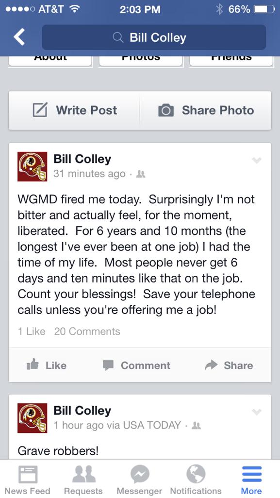 Bill Colley tweet