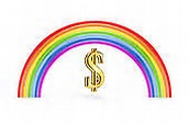 rainbow dollar sign